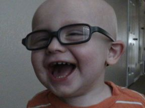 toddler boy in glasses