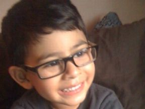 3 year old boy wearing glasses