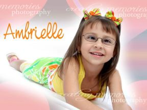 girl in glasses for strabismus and farsightedness