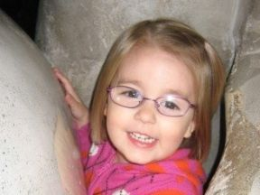Aubrie, 3 years old - she started wearing glasses at 20 months for farsightedness.