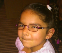 Ava age 5 wears glasses for astigmatism, frames are Disney snow white, from specsavers