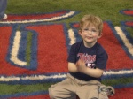 Franklin on the Field at the Metrodome