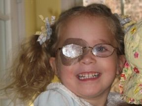 Ellie, 2 1/2 - wears glasses and patches for strabismus and amblyopia.