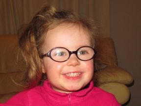 preschooler in glasses