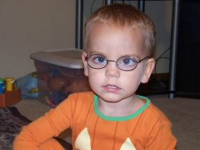 picture of a toddler boy in glasses 2 yrs old