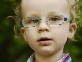 Koen, 22 months.  He wears glasses strabismus.  His glasses are Super-flex lenses.