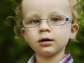 Koen, 22 months.  He wears glasses strabismus.  His glasses are Super-flex lenses.