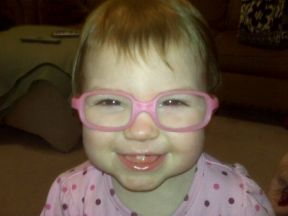picture of a 21 month old in glasses