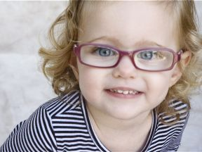photo of a girl in glasses