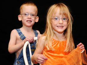 photo of 3 year old twins wearing glasses