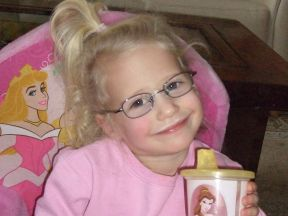 picture of a 2 1/2 year old girl wearing glasses