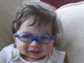 baby boy wearing glasses