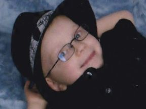 picture of a 4 year old boy in glasses
