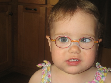 A picture of Zoe that triggers my guilt-reflex.  From May 2008.  I kept trying to convince myself that her eyes weren't crossing again, but it's clear looking back that they were.