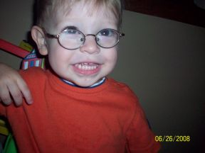 Braden was diagnosed with Esotropia in 07, had *successful* surgery in 08!!  He is evaluated every 3 months by our PO.