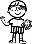 boy with a monkey