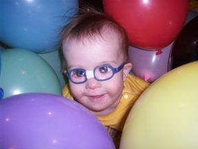 Jason - 16 months, he's worn glasses for a year for cataracts.