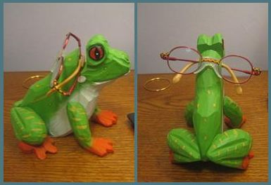 Frog holder for Zoe's glasses