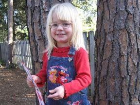 Elly, 2 years old - wears glasses for amblyopia.