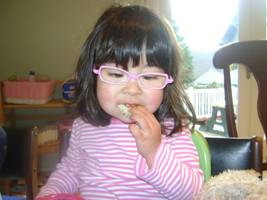 Mia in her glasses