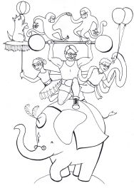 circus scene coloring pages - photo #38