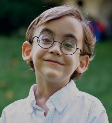 picture of a nearsighted boy