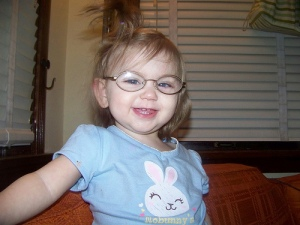 picture of young toddler in glasses