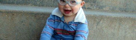 baby boy in glasses