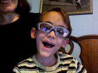 picture of young boy in prescription sports goggles