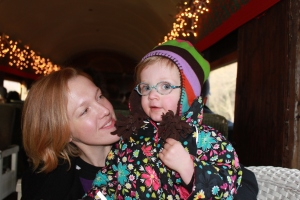 Stella and I, while riding the Santa Train. Happy holidays, everyone!