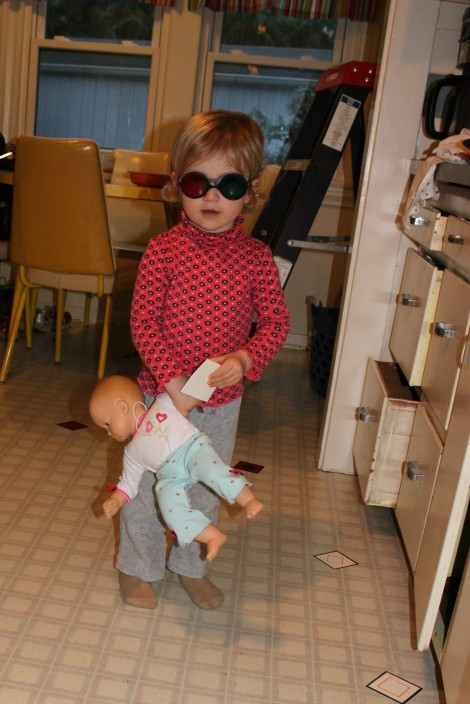 The Treat Game: Stella's baby helps find matches during vision therapy