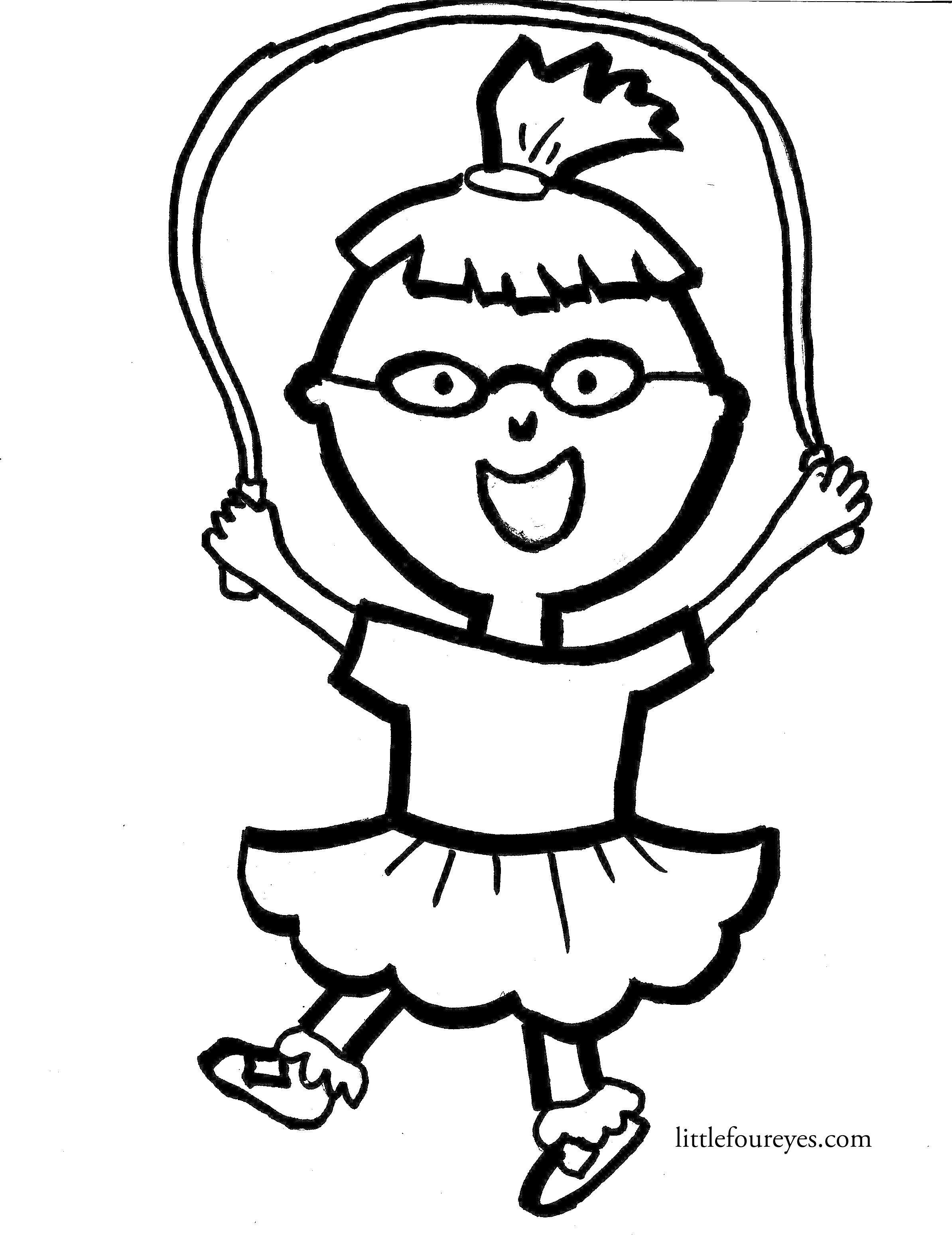 kids jumping rope coloring pages - photo#31