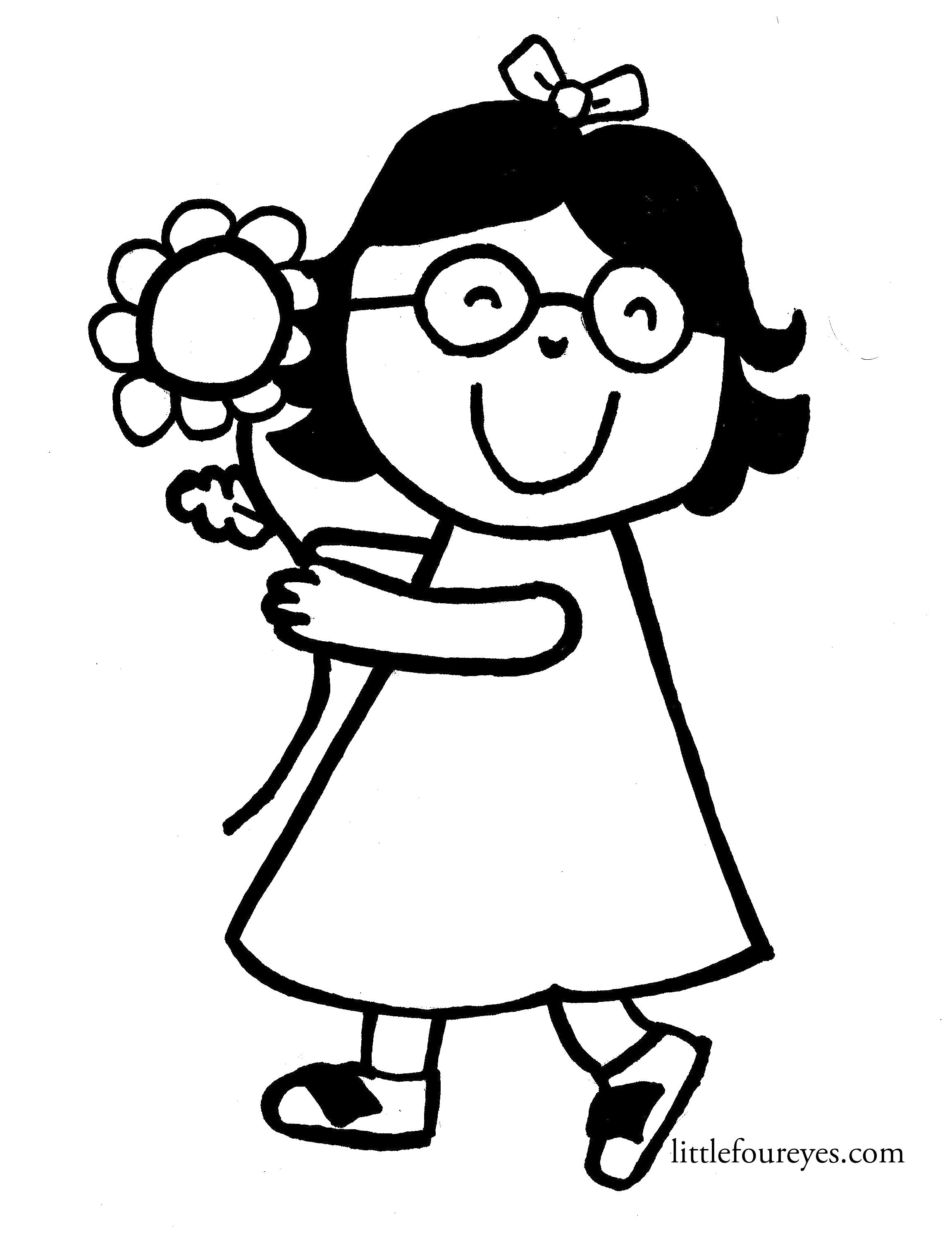 Glasses Coloring Pages - Coloring Home | 2982x2303