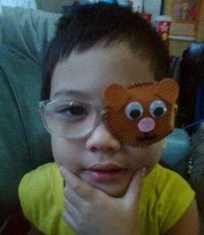 He is 4 years old now but started wearing glasses and patching since he was 3 years old.