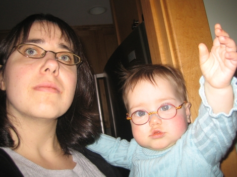 girls with glasses (I'm looking at the camera's viewfinder in the mirror)