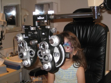 Zoe at the eye doctor