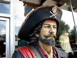 Pirate.  Used under the Creative Commons license, copyright Kate Haskell.