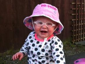 baby girl in glasses