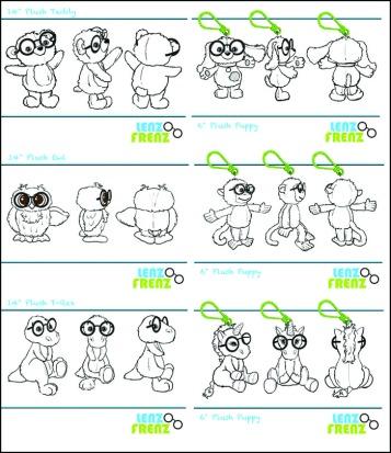 Prototypes for the Lenz Frenz animals