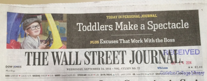 Great article in The Wall Street Journal on toddlers in glasses