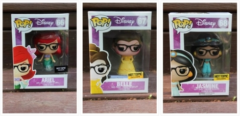 Funko Hipster Ariel, Belle, and Jasmine. Photo from http://popvinyls.com/2015/05/27/a-look-at-the-funkos-disney-hipster-princesses/